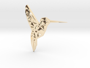 Hummingbird  in 14k Gold Plated Brass
