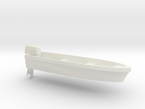 Printle Thing Boat & Motor - 1/24 in White Natural Versatile Plastic
