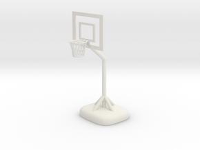 Little Basketball Basket in White Natural Versatile Plastic