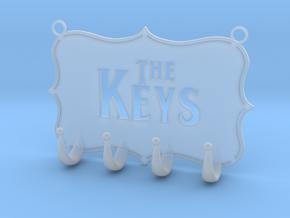 Key Hanger in Smooth Fine Detail Plastic