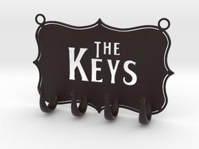Key Hanger in Matte Full Color Sandstone