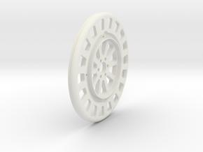 JRC-338 2.2 BEADLOCK WHEEL FACE in White Natural Versatile Plastic