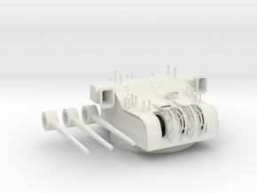 1/100 IJN 15.5cm/60 3rd Year Type naval gun in White Natural Versatile Plastic