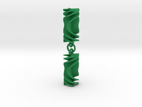 Parabolic Rotini Earrings in Green Processed Versatile Plastic
