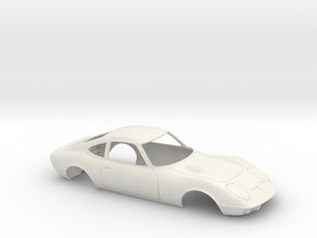 1/16 1968-73 Opel GT Shell in White Natural Versatile Plastic