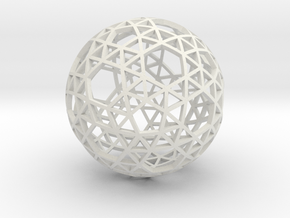 SNUB_TRUNCATED_ICOSAHEDRON in White Natural Versatile Plastic