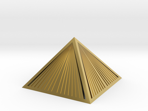 Golden Pyramid Star Tetrahedron ultra detail in Polished Brass