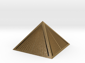 Golden Pyramid Star Tetrahedron ultra detail in Polished Gold Steel