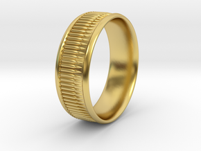 Bullet Belt Ring - multiple sizes available in Polished Brass: 5 / 49