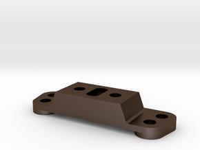 Tamiya Thundershot Steel Rear Arm Mount B8 part in Polished Bronze Steel