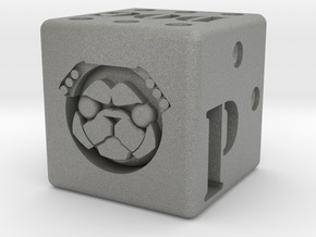Pug Dice in Gray PA12