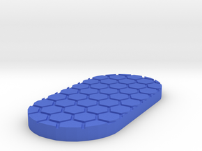 Honeycomb 50mmx25mm Miniature Base Plate in Blue Processed Versatile Plastic