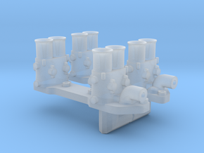 1/25 Y-block Injectors in Smooth Fine Detail Plastic