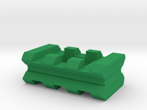 "Back-to-Back Weaver Rails Adapter (3 Slots 0.5"" To in Green Processed Versatile Plastic"