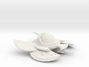 The Alien Swarmer in White Natural Versatile Plastic
