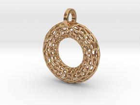 Torus Pendant in Polished Bronze