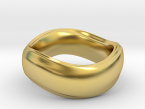 Ima Wave Ring in Polished Brass: 7 / 54