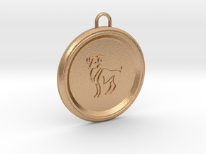 aries-pendant in Natural Bronze