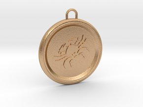 cancer-pendant in Natural Bronze