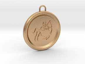 sagitarius-pendant in Natural Bronze