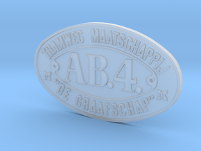 800 TMDG nummerplaat AB4 schaal 1:17 in Smooth Fine Detail Plastic