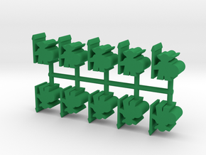 Goblin Guard, 12mm Small, 10-set in Green Processed Versatile Plastic