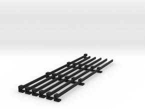 Stromschiene Conductor rail 1:160 Spur N Scale in Black Natural Versatile Plastic