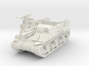 M7 Priest scale 1/48 in White Natural Versatile Plastic