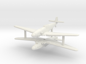 1/200 Messerschmitt Me-209H/V1 (x2) in White Natural Versatile Plastic