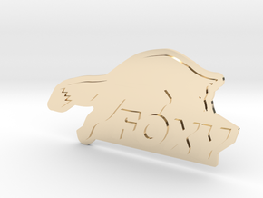FOXY Badge 1.0 in 14k Gold Plated Brass