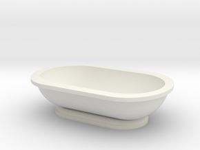 Scale Model Modern Bathroom Tub  in White Natural Versatile Plastic: 1:12