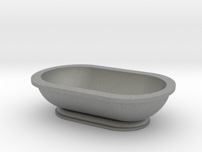 Scale Model Modern Bathroom Tub  in Gray Professional Plastic: 1:12