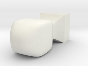 seal for [ everyone ] Japanese HANKO(square) in White Natural Versatile Plastic