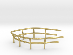 1/72 U-Boot U-441 Railing 1 for Conning Tower in Natural Brass