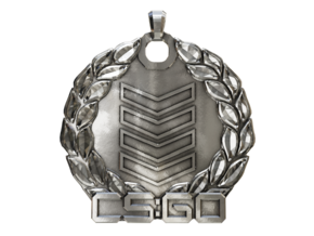 CS:GO Silver 4 Pendant in Polished Silver