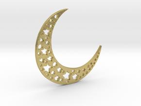 halfmoon-stars in Natural Brass