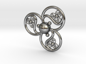 mana pendant in Polished Silver
