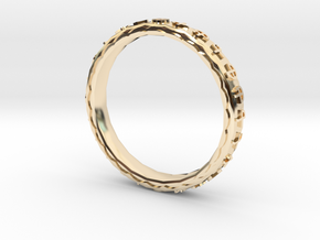 Mantra Ring in 14K Yellow Gold
