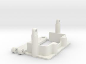 losi jrx2 battery box and lid in White Natural Versatile Plastic