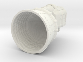 Apollo F-1 Engine Batted 1:96 in White Natural Versatile Plastic