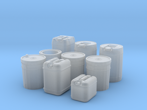 1/24 Liquid Container Set in Smooth Fine Detail Plastic