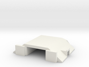 Papa Air Base Bunker 1:1250 Scale in White Natural Versatile Plastic