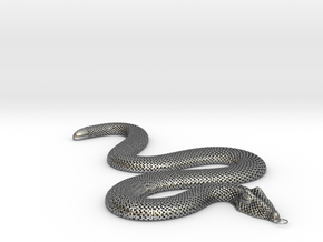 snake in Antique Silver