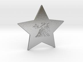 star-virgo in Natural Silver
