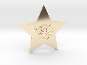 star-taurus in 14k Gold Plated Brass