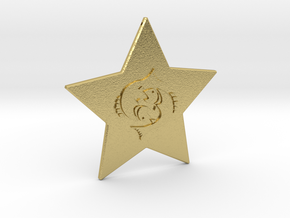 star-pisces in Natural Brass