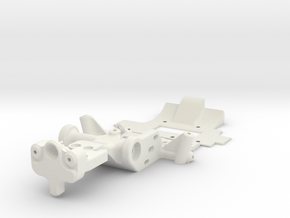MINIZ F1 - TRIDAMPER MOUNT in White Natural Versatile Plastic
