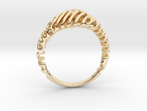 Reaction Diffusion Ring  5 in 14K Yellow Gold