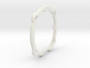 AU: Kaiuttimen kiinnityslevy (v7) in White Natural Versatile Plastic