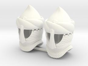 BYZANTINE HELMET 14 X2  in White Processed Versatile Plastic